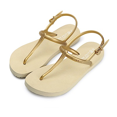 BuyGlasses 簡約時尚輕量防水涼鞋-金