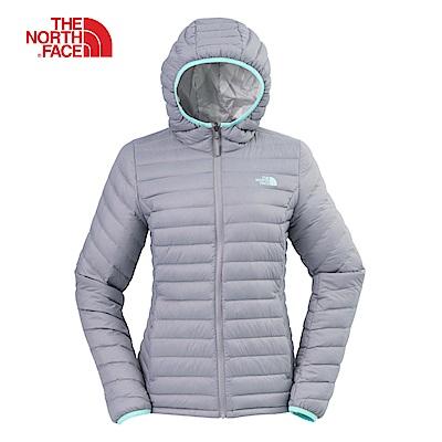 The North Face北面女款灰色防潑水羽絨外套 3KTM6SH