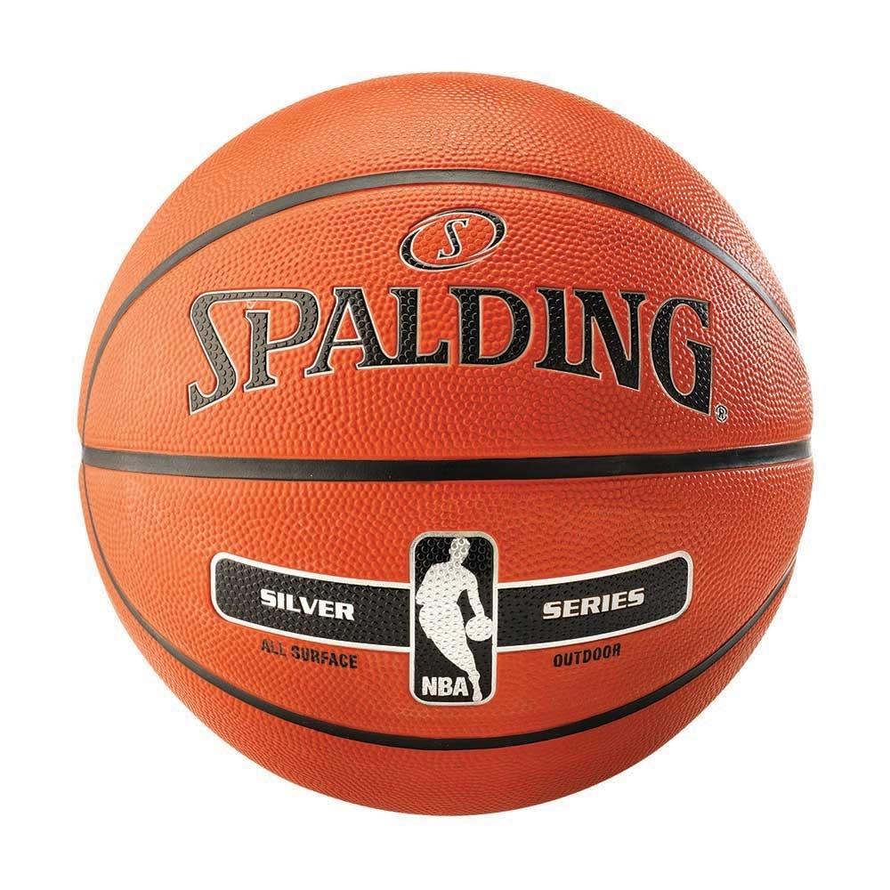 SPALDING 斯伯丁 銀色NBA Rubber 7號籃球 橡膠