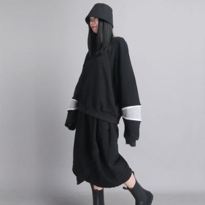 設計所在Style-慵懶風加厚蝙蝠袖倆件式套裝
