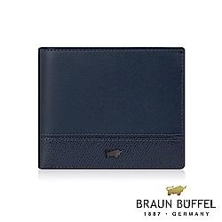 BRAUN BUFFEL - 邦尼系列8卡中翻零錢袋皮夾 - 深海藍