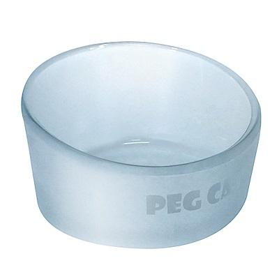 JohoE嚴選 鋼化玻璃斜口寵物碗