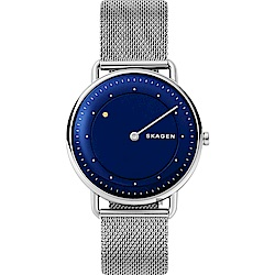 SKAGEN 地平線系列 來自月球米蘭帶男錶-藍/40mm