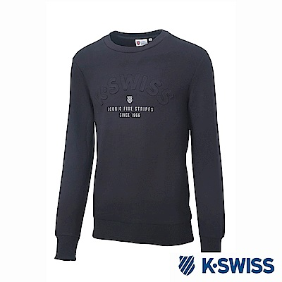 K-Swiss Round Sweat Shirts圓領長袖上衣-男-黑