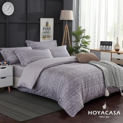 HOYACASA星野 雙人四件式300織抗菌精梳長絨棉兩用被床包組