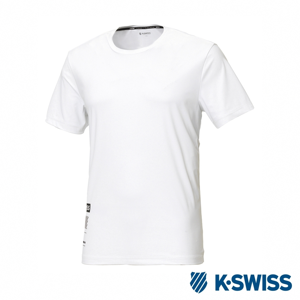 K-SWISS T-Shirt 韓版短袖T恤-男-白