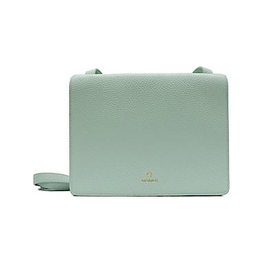 AIGNER-扁款簡約斜側背包-湖水綠
