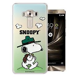 史努比ASUS ZenFone 3 Deluxe ZS550KL漸層彩繪軟式手機殼(郊遊)