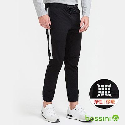 bossini男裝-彈性輕便保暖褲(外層加厚)01黑
