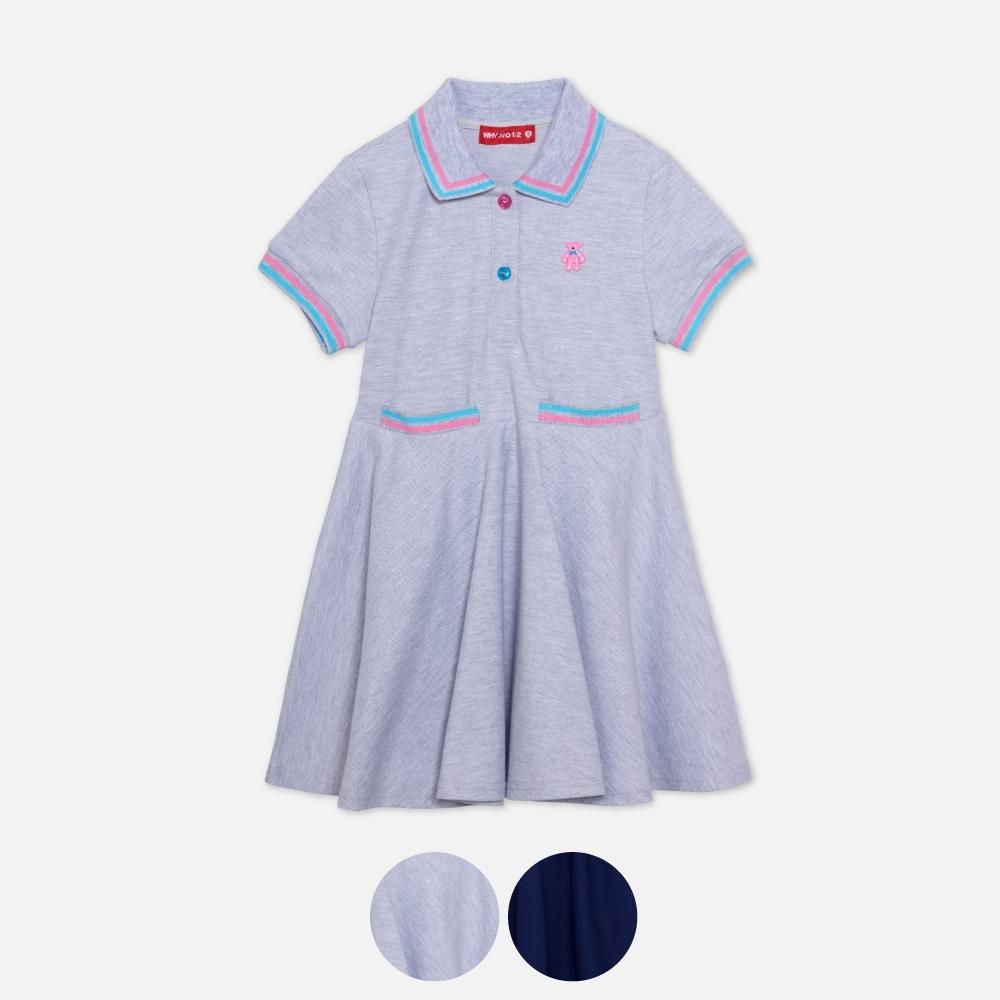 WHY AND 1/2 抗UV吸濕排汗涼感POLO洋裝 多色可選 11Y ~ 12Y