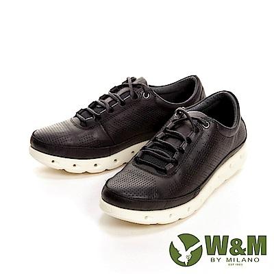 W&M 高彈力減壓輕量慢跑休閒 女鞋-黑(另有紅、藍)