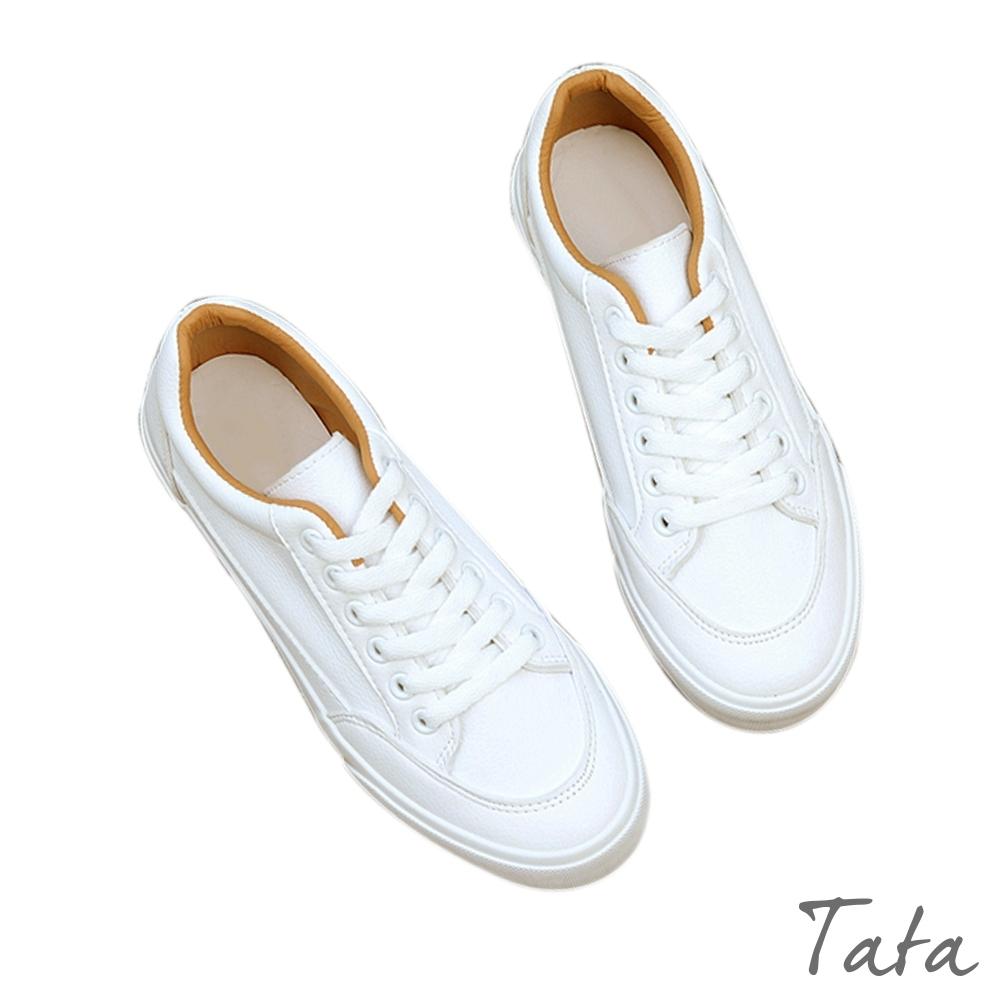 素面撞色內裡小白鞋 TATA