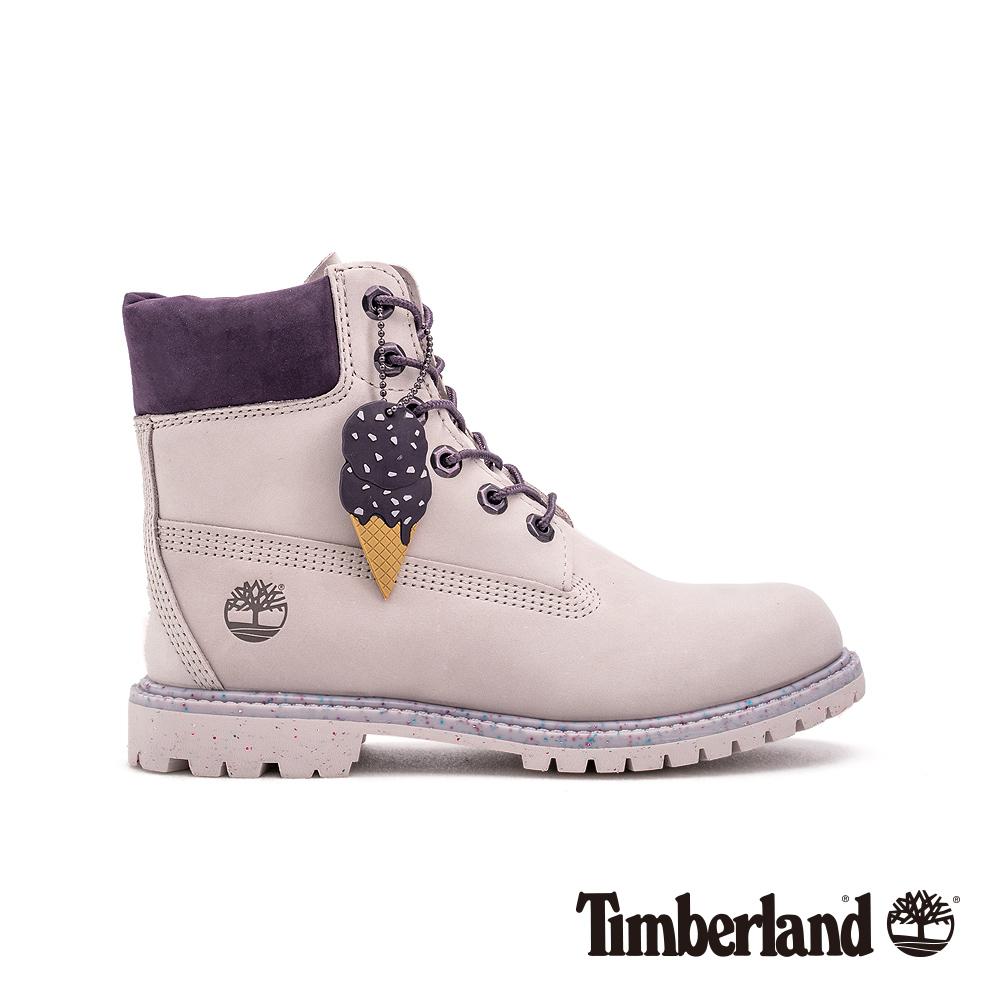 Timberland 女款淺紫色磨砂革冰淇淋系列6吋靴|A1VZU