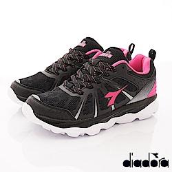 DIADORA-輕彈增高跑鞋款 SI672黑桃(女段)