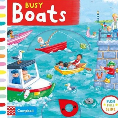 Busy Boats 忙碌的划船遊戲硬頁操作拉拉書