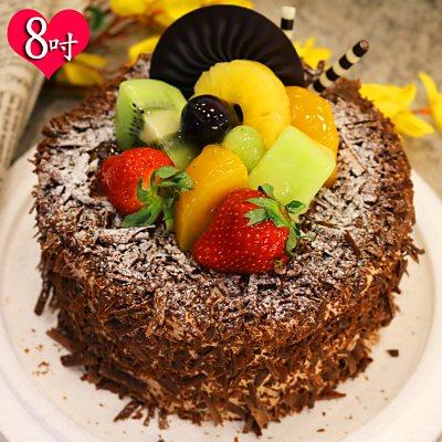 波呢歐 黑森林雙餡鮮奶蛋糕(8吋)