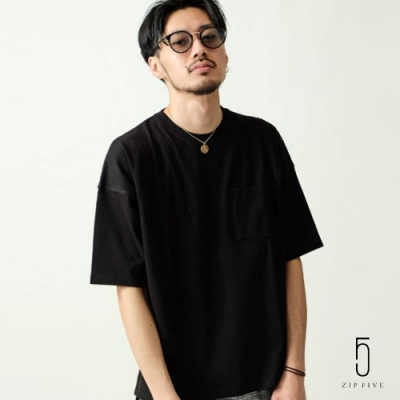 ZIP日本男裝 美國棉寬版五分袖TEE(12色)