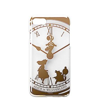 iPhone 8/7 Plus 海外限定 迪士尼 PC金箔透明 硬殼 5.5吋-愛麗絲
