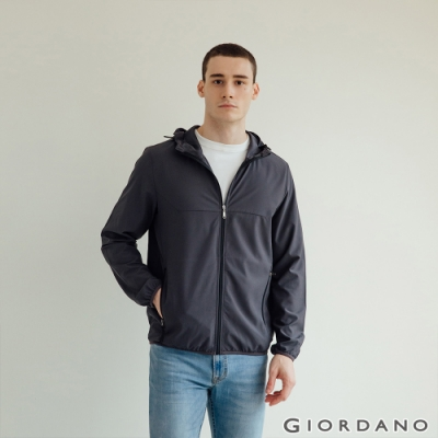 GIORDANO 男裝3M吸濕排汗連帽外套 - 06 標誌灰