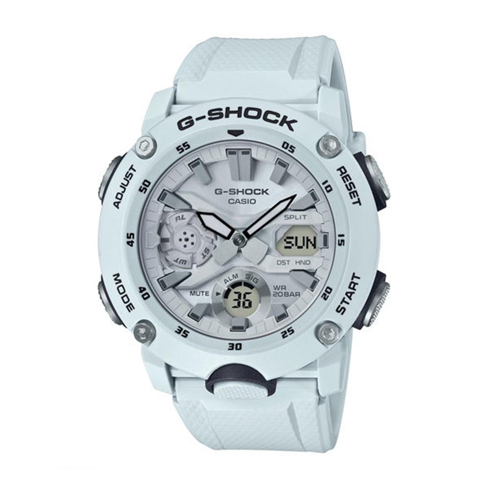 CASIO卡西歐G-SHOCK系列 立體手錶(GA-2000S-7A)-天藍/48.7mm