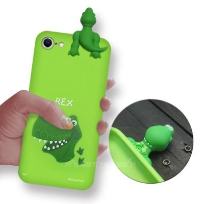 迪士尼授權正版 iPhone SE 2020/SE2 趴姿公仔手機殼 親膚軟殼(抱抱龍)