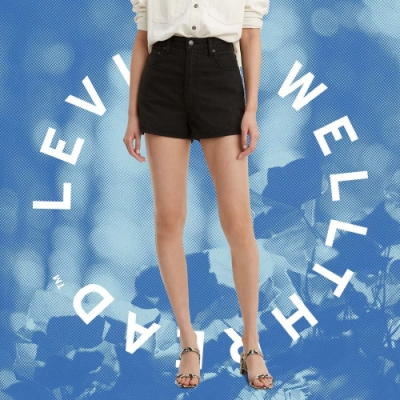 Levis Wellthread環境友善系列 女款Ribcage高腰排釦直筒牛仔短褲