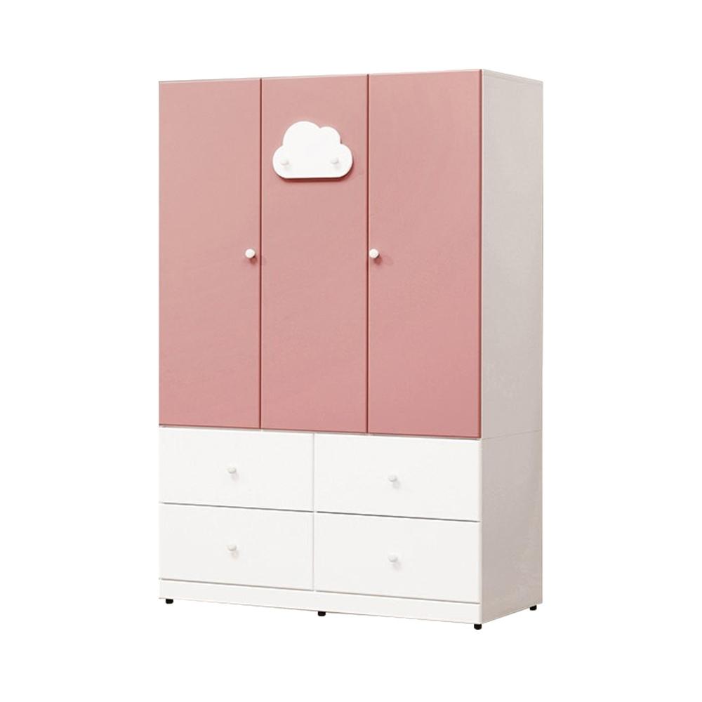 H&D 雲朵粉紅色4尺衣櫃