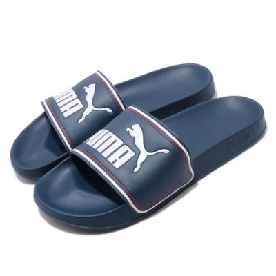 Puma 涼拖鞋 Leadcat FTR 套腳 男鞋 輕便 舒適 大logo 夏日 情侶穿搭 藍 白 37227605
