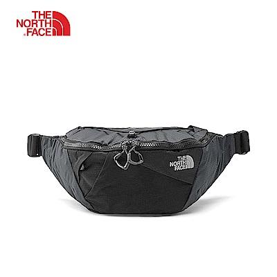 The North Face北面男女款灰黑色透氣休閒腰包 3S7ZMN8