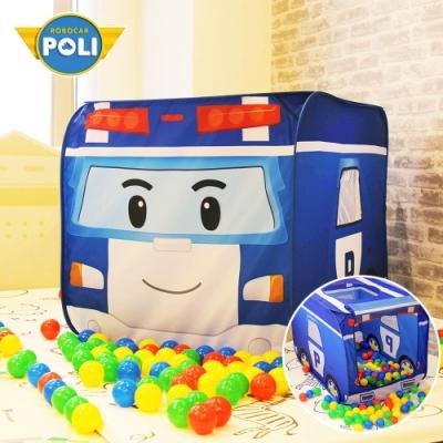 【NUNUKIDS】Poli 波力球池帳篷二合一遊戲屋(含50顆遊戲球) - 波力