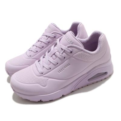 Skechers 休閒鞋 Uno-Frosty Kicks 女鞋 氣墊 靈活 支撐 能量回饋 增高 紫 155359LIL