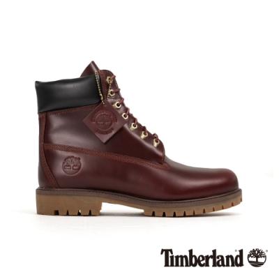 Timberland 男款中棕色全粒面休閒靴|A22W9