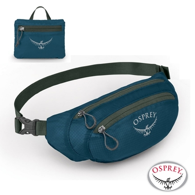 OSPREY 新款 Ultralight Stuff Waist Pack 2L 可調式超輕透氣多功能腰包_文丘里藍 R