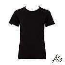 A.S.O負離子系列-男士排汗短袖上衣-黑