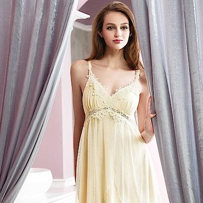 華歌爾睡衣-性感M-L 蕾絲裙裝(甜心白)