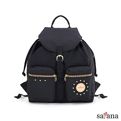 satana - POP 女孩焦點後背包 - 黑色