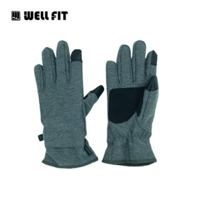 Well Fit 輕量防水觸控保暖手套【深灰白】(登山、旅遊、保暖、機車、滑雪)