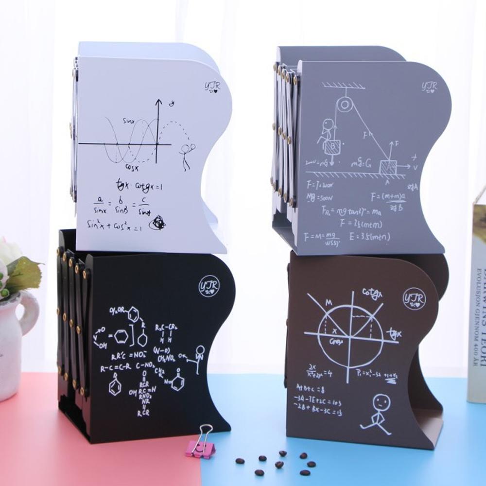 澄境 數理職人桌上型三層伸縮收納書架/書檔(1入)10~45x15x19cm