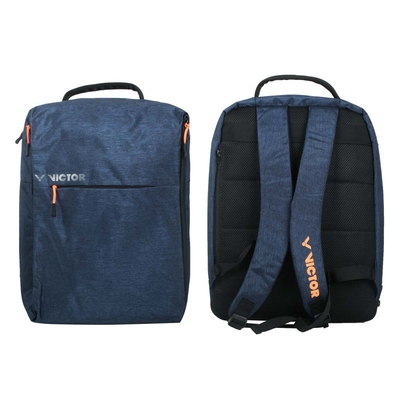 VICTOR 後背包-雙肩包 肩背包 裝備袋 球拍袋 羽球 勝利 BR3022B 深藍橘