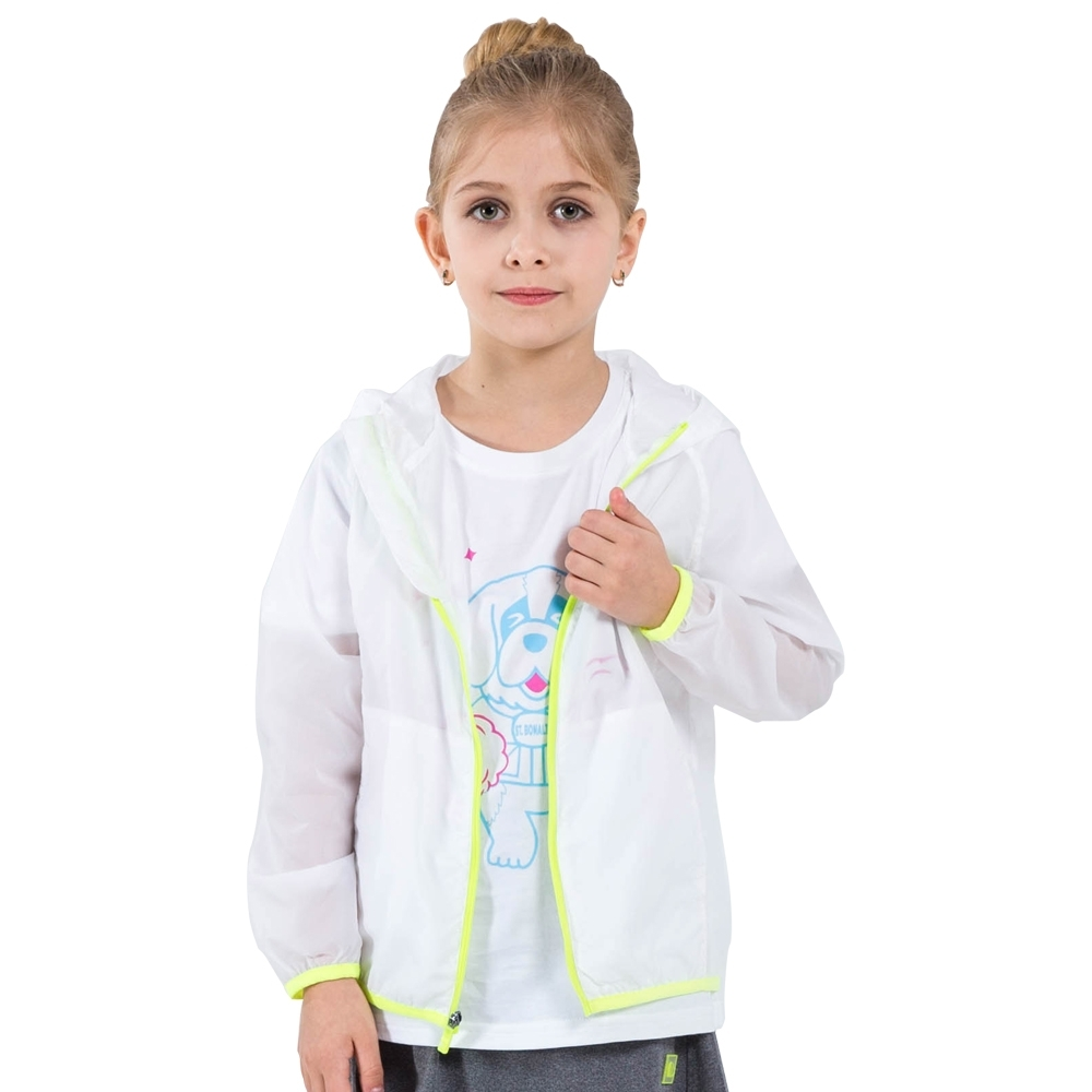 【St. Bonalt 聖伯納】童款 單色輕透防曬外套│童款-7017