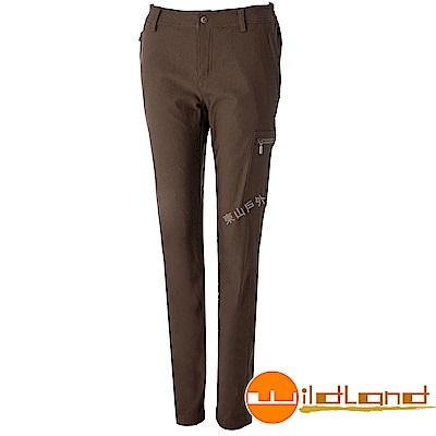 Wildland 荒野 0A52393-63深卡其 女RE超彈性時尚保暖褲