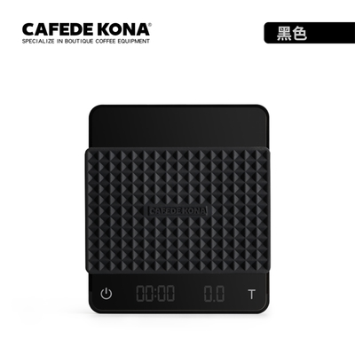 CAFEDE KONA GHOST雙螢幕LED手沖咖啡電子秤 - 黑色(專利雙螢幕顯示)