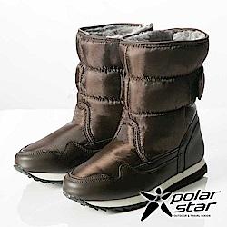 【PolarStar】女保暖雪鞋『棕』P13621 冰爪 內厚鋪毛 防滑鞋底