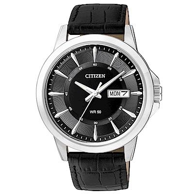 CITIZEN 極品男爵石英腕錶(BF2011-01E)-黑x41mm