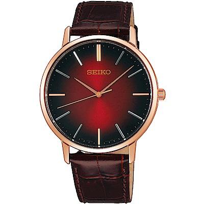 SEIKO精工 SPIRIT 卓越品味石英腕錶(SCXP130J)-漸層紅/38mm