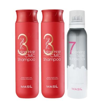 MASIL 胺基酸修復洗髮精300mlx2  + 7奇頭皮泡泡液150mlx1(舒爽SPA三入組)