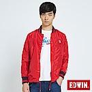 EDWIN 復古教練式單層外套-男-紅色