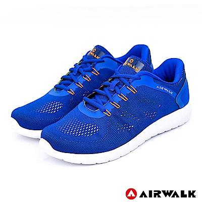 【AIRWALK】活力追夢針織運動鞋-深藍