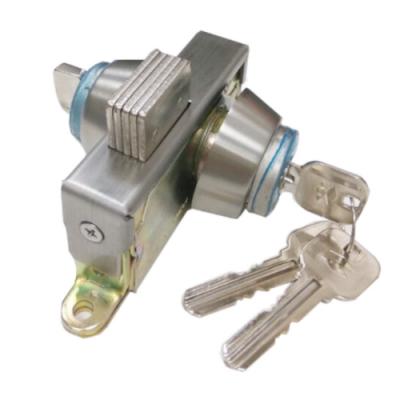 OK301 不銹鋼地鎖 單頭 隱藏式地鎖 門厚3-4CM OK地鎖 暗閂鎖 玻璃門鎖玻璃鎖