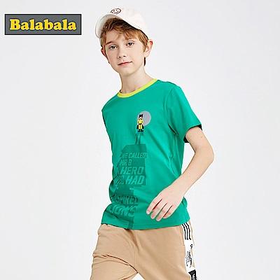 Balabala巴拉巴拉-超級英雄印花純棉短袖T恤-男(3色)